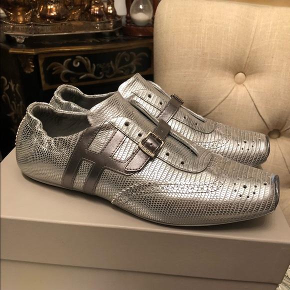 $250 Hogan Italian design Silver Sneakers size 38